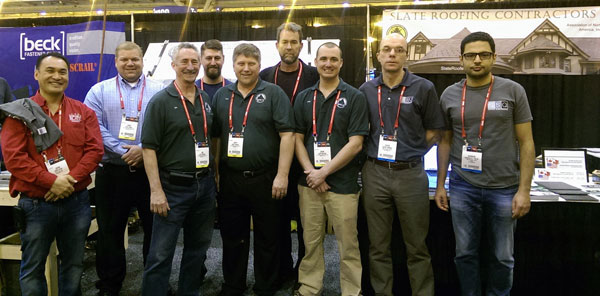 Slate Roofing Contractors at the International Roofing Expo 2015 in New Orleans