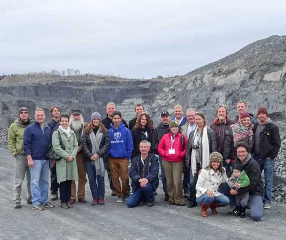 National Slate Association Conference 2014 tour of the Glendyne Quarry, source of North Country Roofing Slate