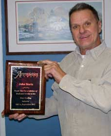 John Stortz presented with Lifetime Achievement Award